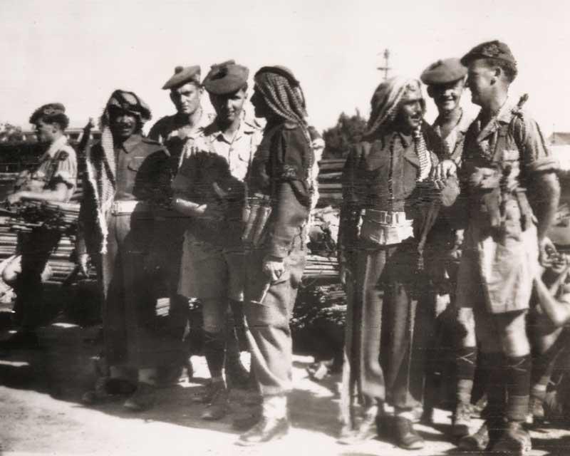 Members of the 1st Cameronians in Jordan, 1958