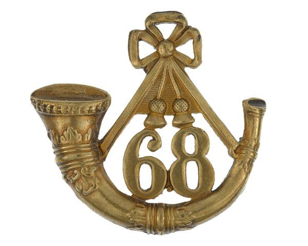 Glengarry badge, 68th (Durham) Regiment of Foot (Light Infantry), c1874