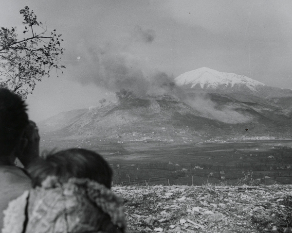 Observing the bombing of Monte Cassino monastery, February 1944