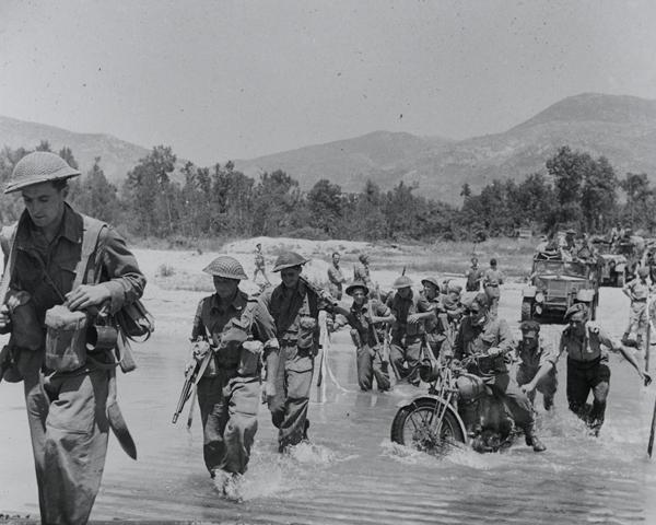Crossing the River Melfa, Italy, May 1944