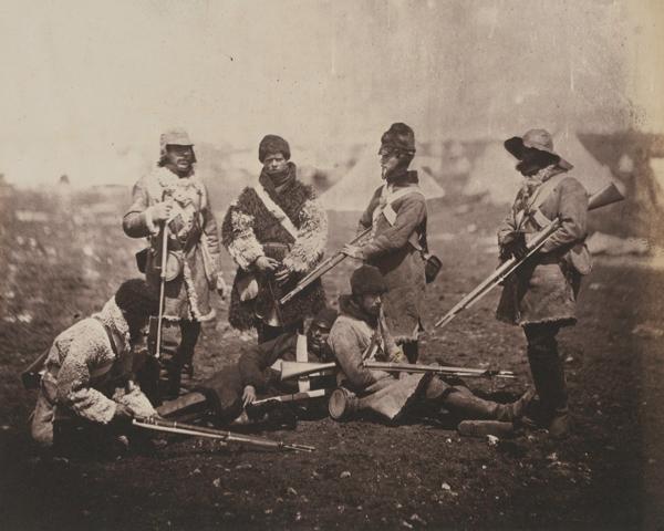 Men of the 68th (Durham) Light Infantry in winter dress, c1855