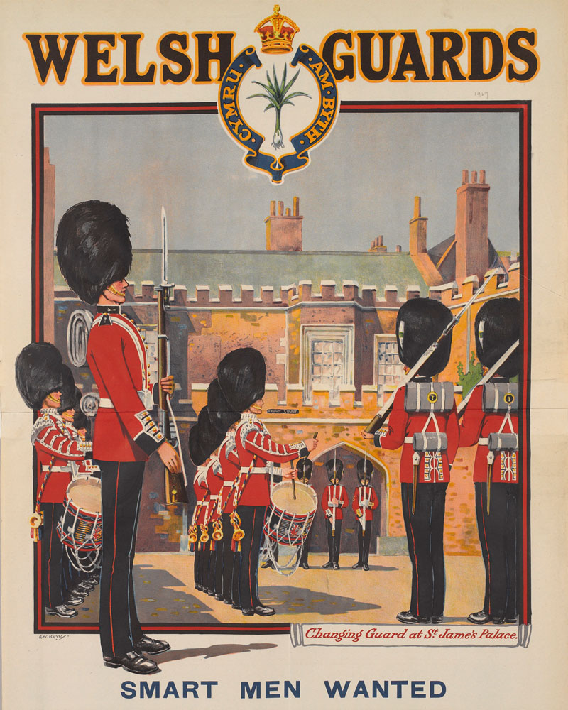 Recruitment poster, The Welsh Guards, 1927