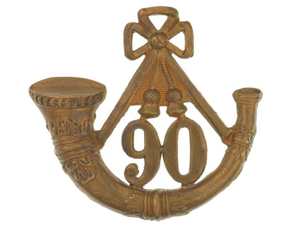 Glengarry badge, 90th (Perthshire Volunteers) (Light Infantry) Regiment of Foot, c1874