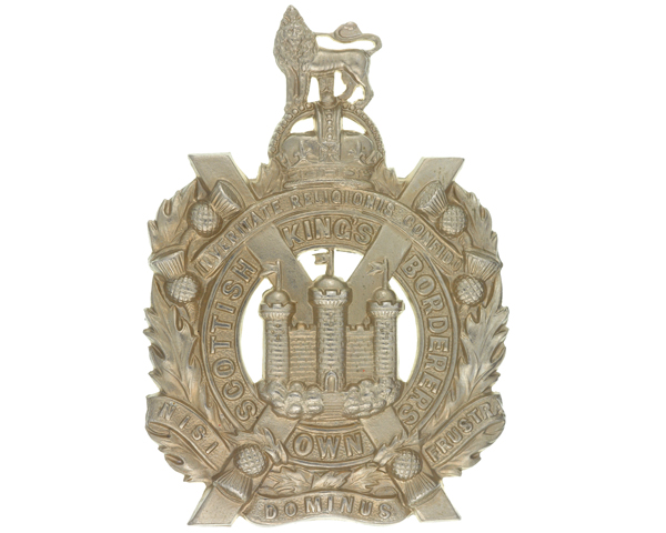 Cap badge, The King's Own Scottish Borderers, c1930