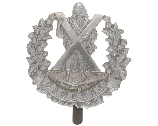 Cap badge, The Queen's Own Cameron Highlanders, c1914
