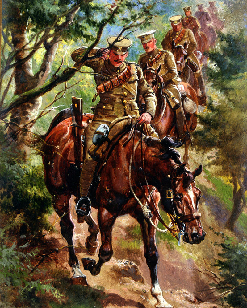 6th Dragoon Guards (The Carabiniers) on patrol, c1905