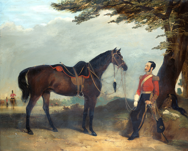 An officer of the 3rd (Prince of Wales's) Dragoon Guards, c1850