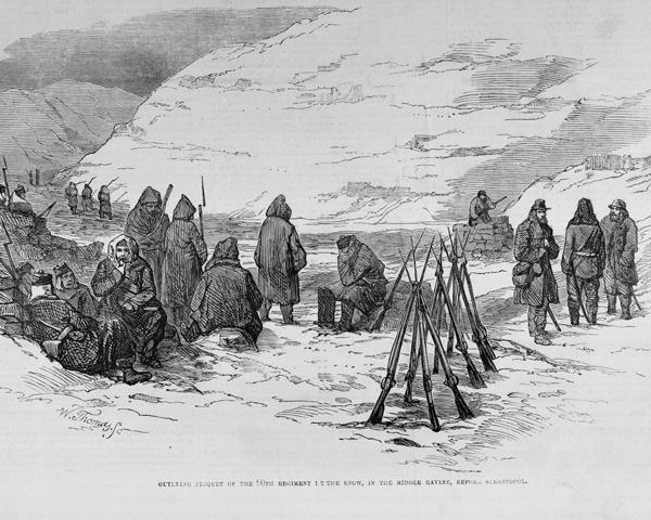 90th (Perthshire Volunteers) piquet outside Sevastopol, c1854