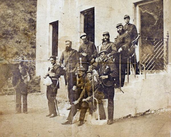 Officers of the 99th (Lanarkshire) Regiment, c1868