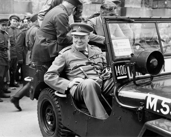 Winston Churchill in Berlin during the Potsdam Conference, 1945