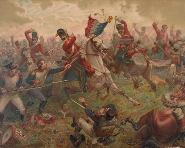Sergeant Charles Ewart, 2nd (Royal North British) Dragoons, capturing an Imperial Eagle at Waterloo, 1815