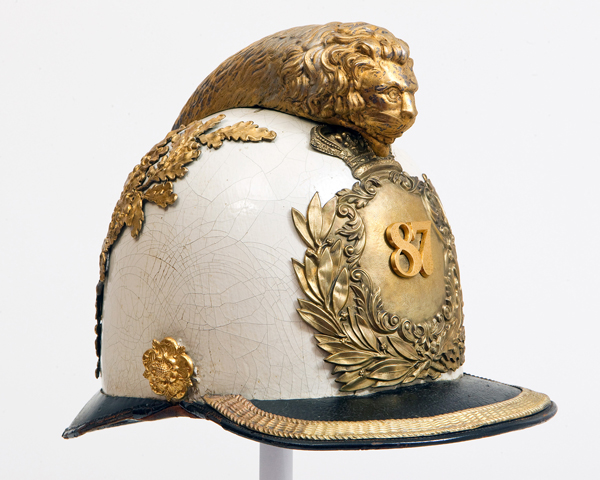 Officer's trial pattern helmet, 87th (Royal Irish Fusiliers) Regiment, c1854