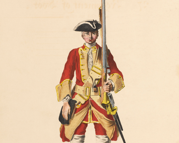 A private of the 27th Regiment of Foot, c1742