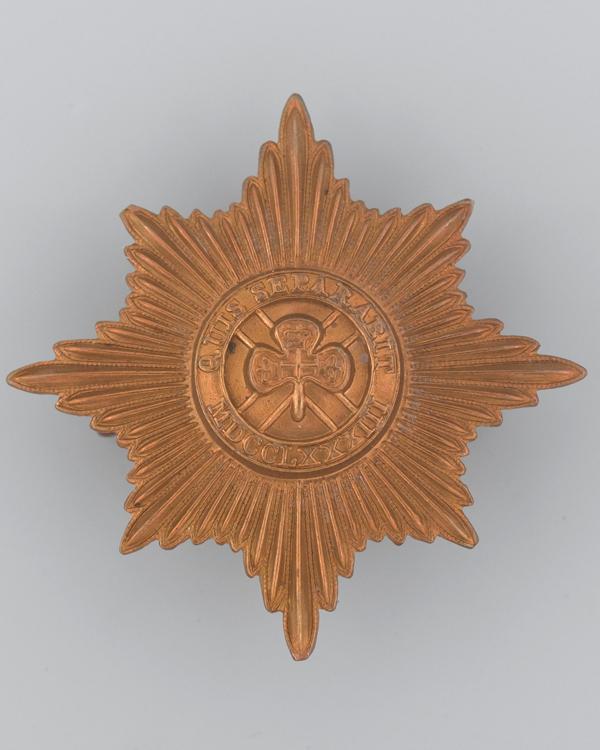 Other ranks' cap badge, The Irish Guards, c1900