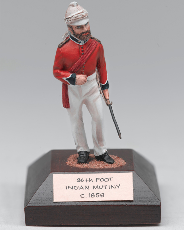 Model British officer of the 86th (Royal County Down) Regiment, c1858
