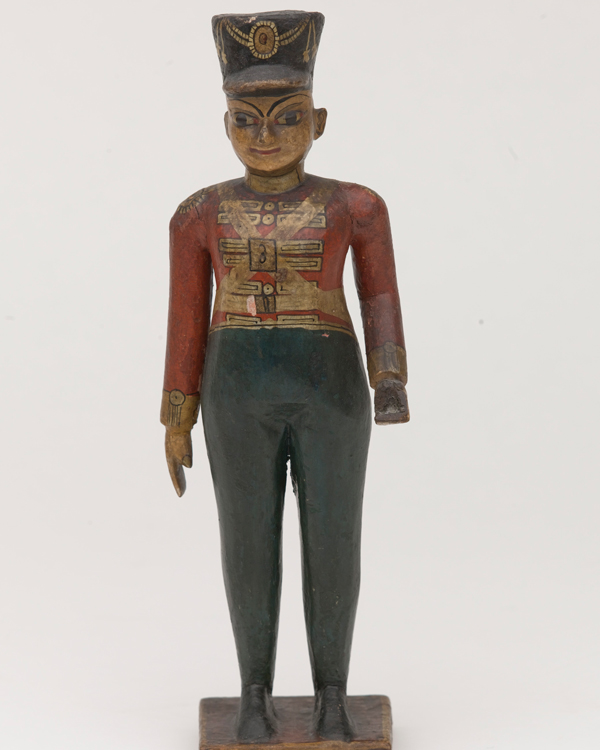 Carved wooden figure of a British officer of the 3rd Madras (European) Infantry, c1854