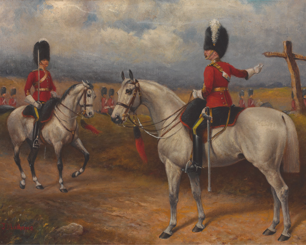 Officers of the 2nd Dragoons (Royal Scots Greys), c1895