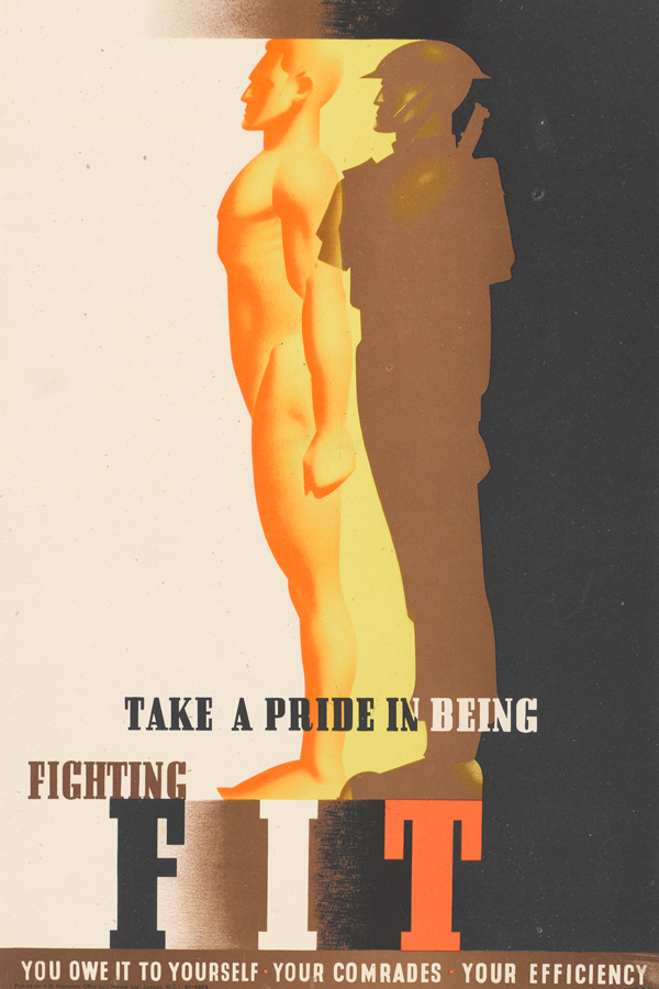 'Take a Pride in being Fighting Fit' poster by Abram Games, 1942