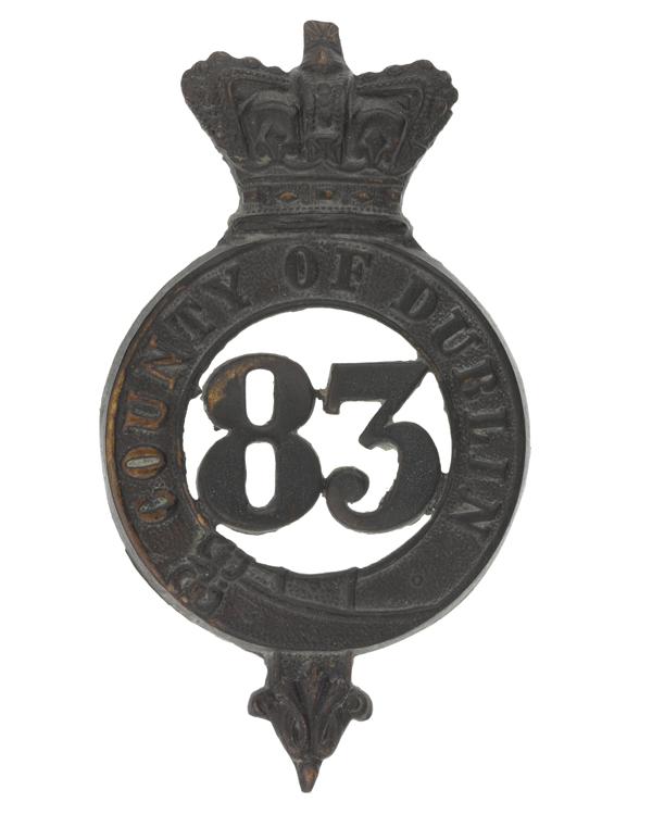 Glengarry badge, 83rd (County of Dublin) Regiment, c1874