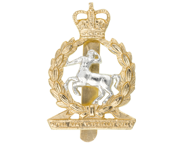 Other ranks' cap badge, Royal Army Veterinary Corps, c1965