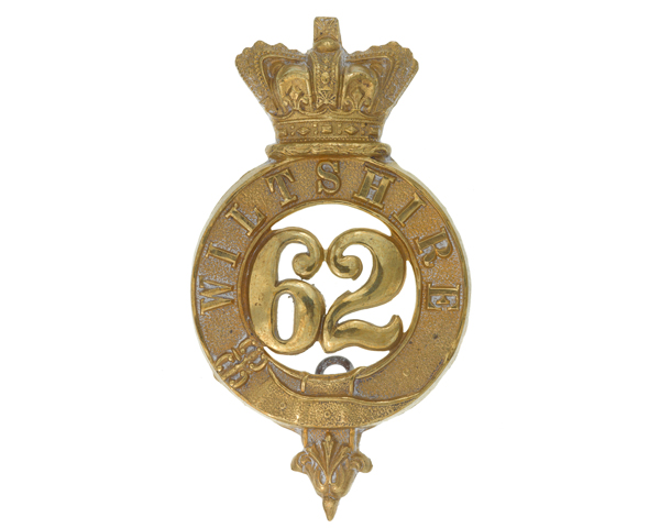 Other ranks' glengarry badge, 62nd (The Wiltshire) Regiment of Foot, c1874