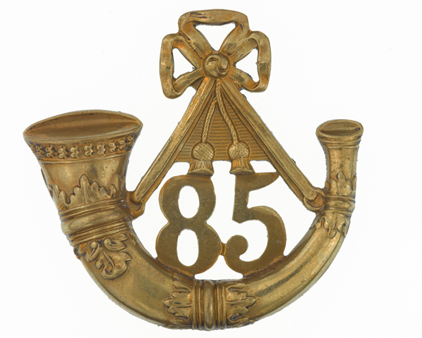 Glengarry badge, 85th (Bucks Volunteers) King's Regiment of Light Infantry, c1874