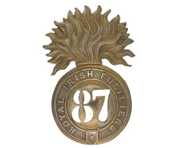 Glengarry badge, other ranks, 87th (Royal Irish Fusiliers) Regiment, c1874