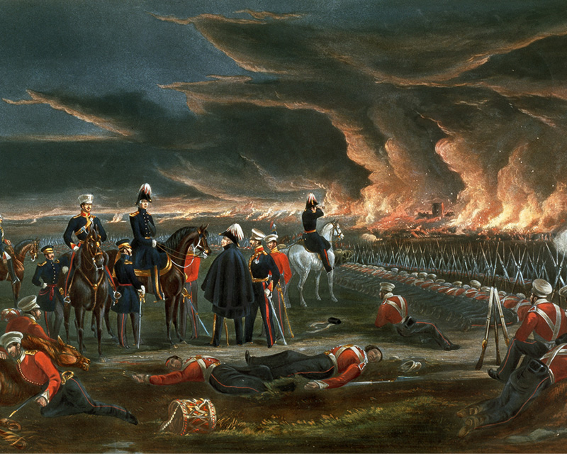 British troops at Ferozshah, December 1845