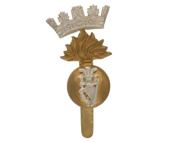 Cap badge, Princess Victoria's (Royal Irish Fusiliers), c1914