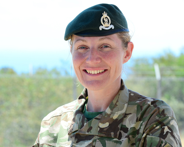 WO 2 Tracy Freer, Adjutant General's Corps, Cyprus, 2014