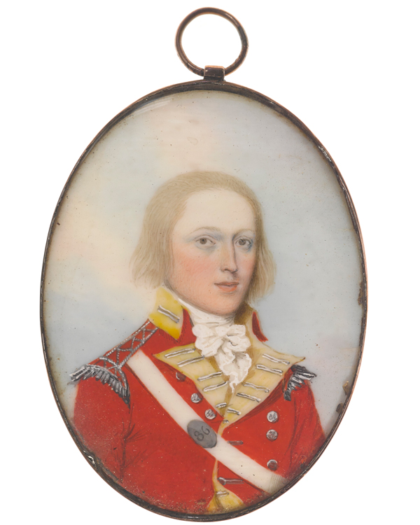 Miniature of Lieutenant John Daniel, 86th Regiment, c1798