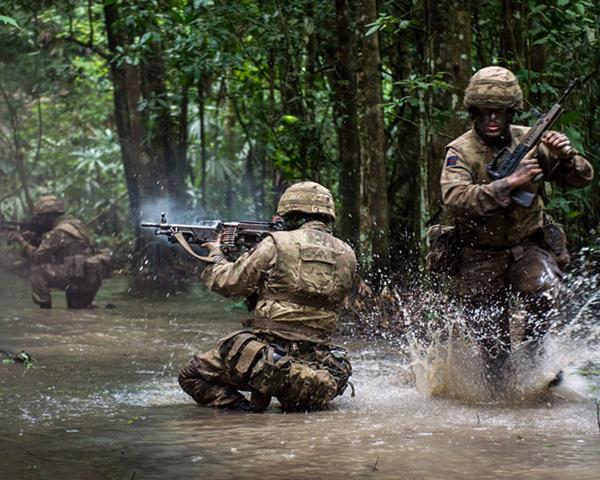 1st Battalion The Irish Guards jungle training, Belize, 2016