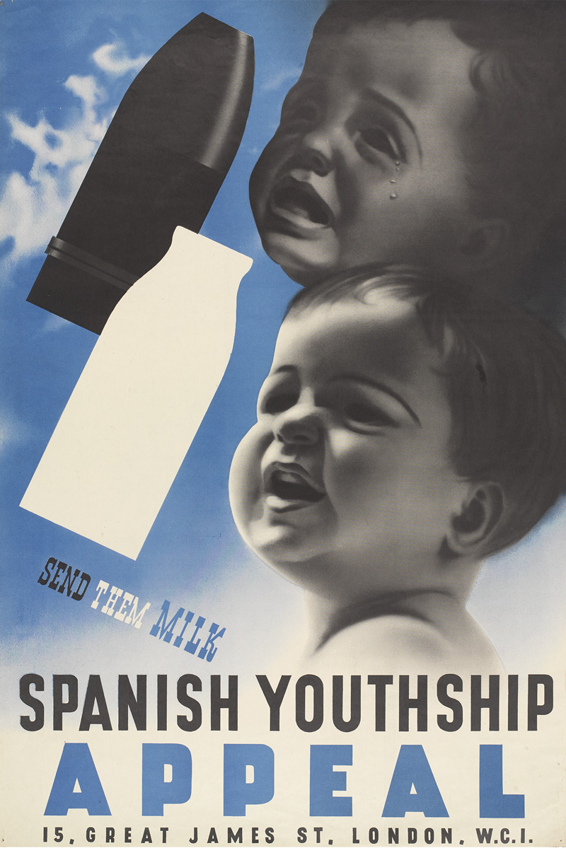 Poster for the National Joint Committee for Spanish Relief by Abram Games, 1939
