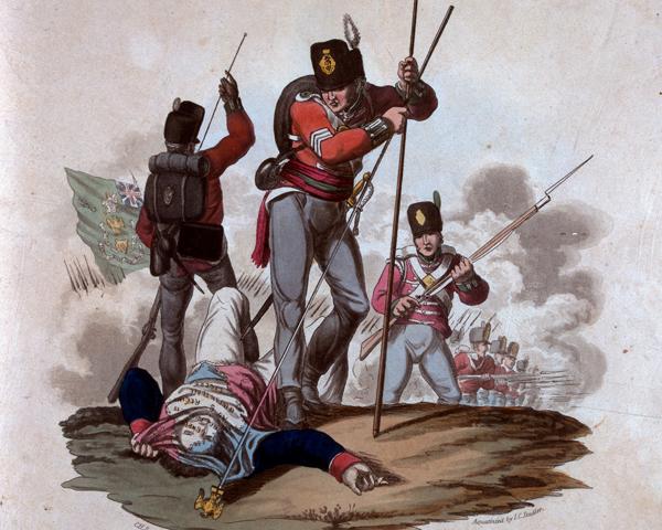 Sergeant Patrick Masterson captured the eagle of the 8th Regiment de Ligne at Barrosa, 1811