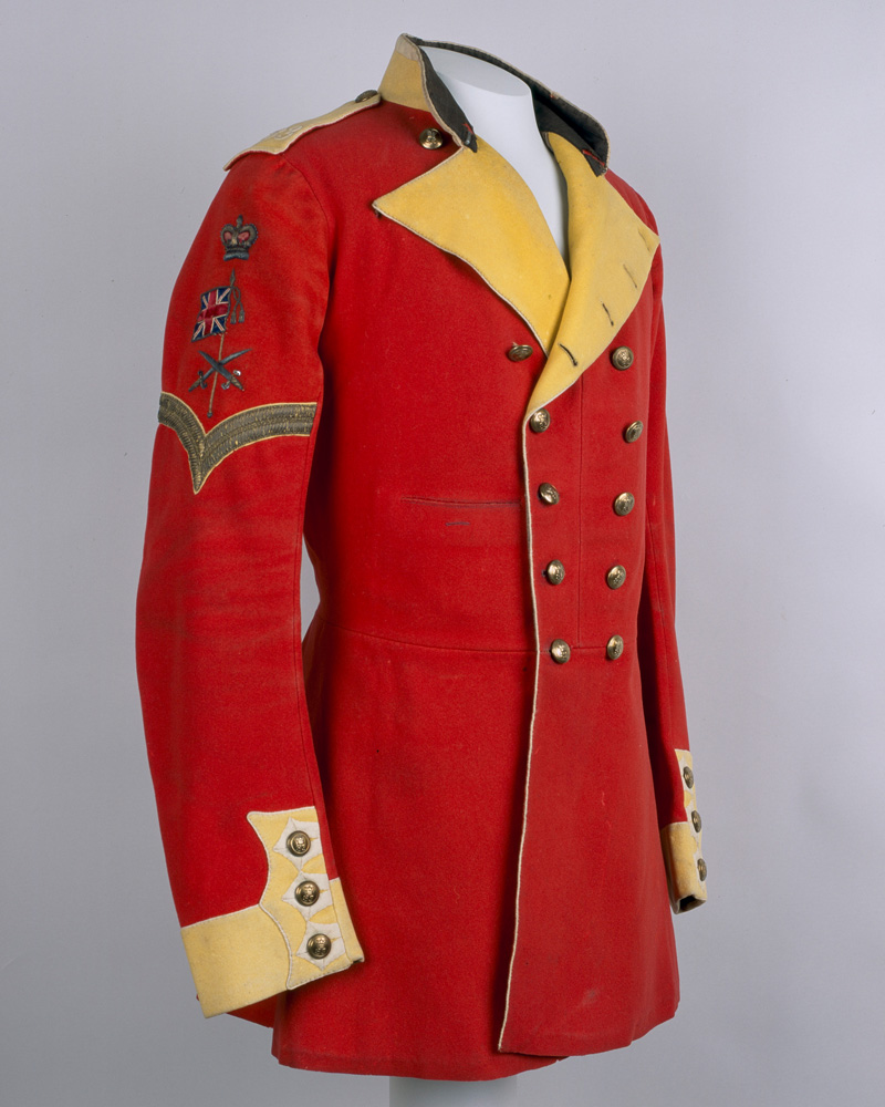 Full dress tunic worn by Colour Sergeant J Anderson, 83rd Regiment of Foot, c1855