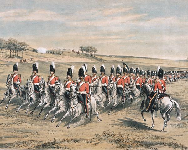 2nd Royal North British Dragoons at Chobham camp, 1853