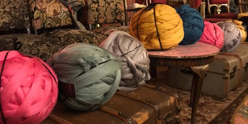 Woolly Mahoosive's giant acrylic yarn