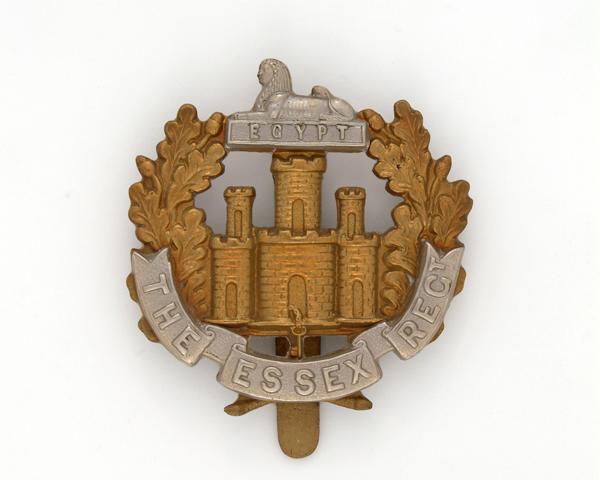 Other ranks' cap badge, The Essex Regiment, c1914