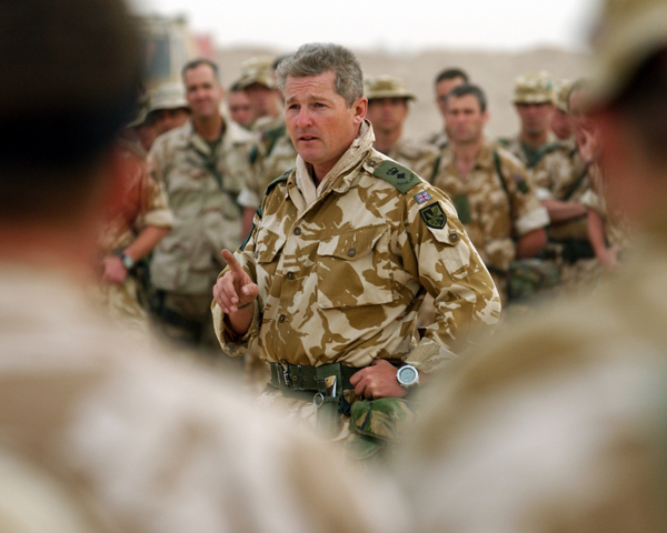 Lieutenant-Colonel Tim Collins addresses the Royal Irish Regiment on the eve of the invasion, March 2003