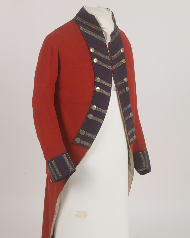 Officers' full dress coatee, 56th (West Essex) Regiment, c1795