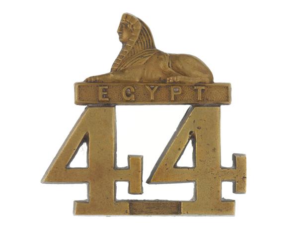 Other ranks' glengarry badge, 44th (East Essex) Regiment, c1874