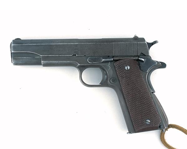 Colt .455 pistol used by Lieutenant-Colonel Augustus Newman VC, c1940