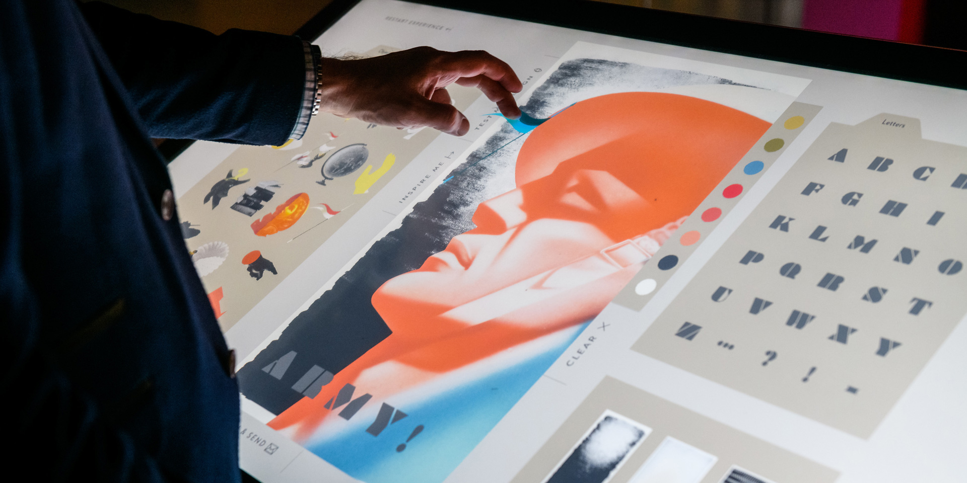 Designing a poster in the 'Art of Persuasion' exhibition