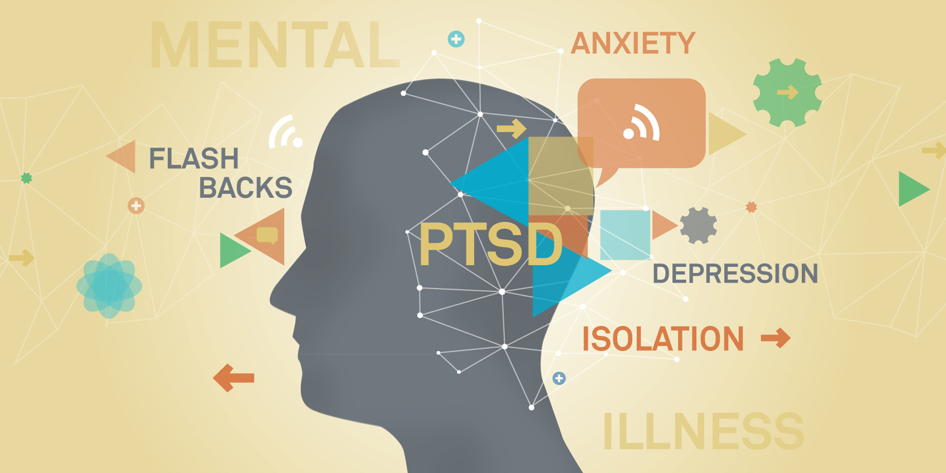 Mental health in the military graphic