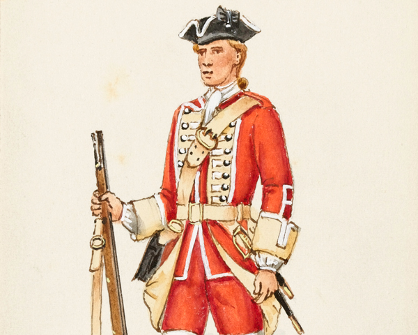 A private of the 61st Regiment of Foot, 1759