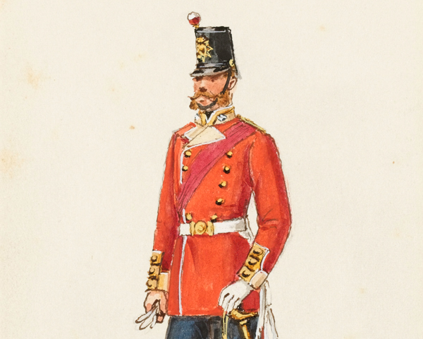 An officer of the 61st Regiment, 1856
