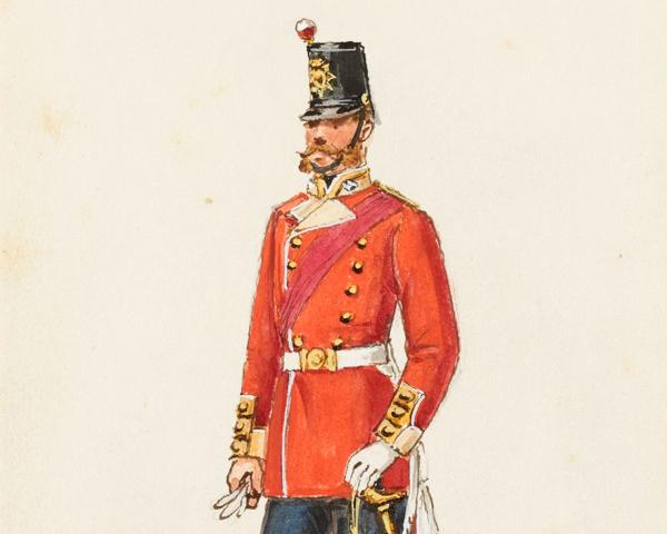 An officer of the 61st Regiment, 1856