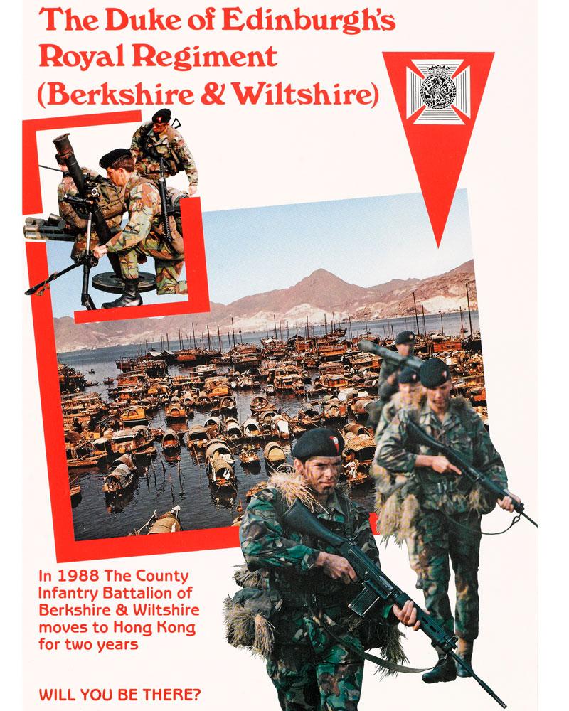 Recruitment poster, The Duke of Edinburgh's Royal Regiment, 1987