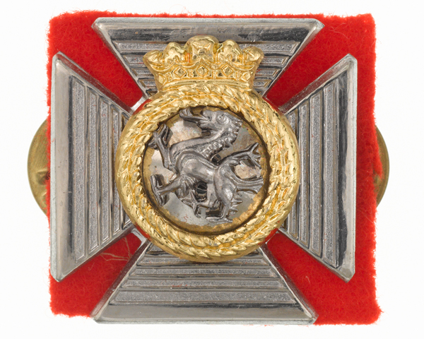 Collar badge, The Duke of Edinburgh's Royal Regiment (Berkshire and Wiltshire), c1980