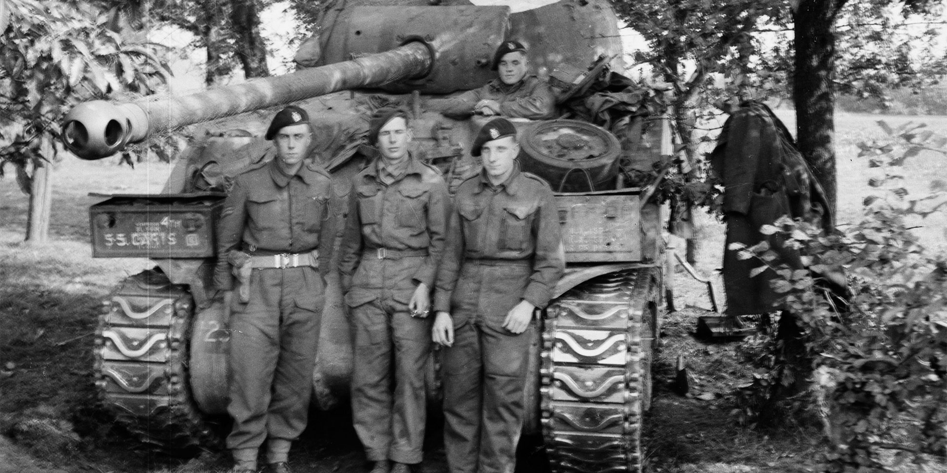 Crewmen of a Sherman Firefly, 1944